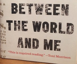 Photo of the words: BETWEEN THE WORLD AND ME.