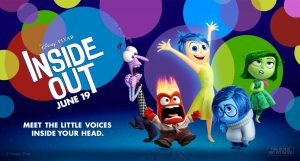 Movie poster in landscape view for Inside Out.
