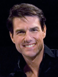 Photo of Tom Cruise smiling.