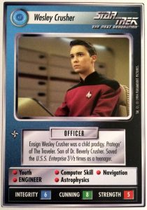 Photo of the card Wesley Crusher from Star Trek CCG.