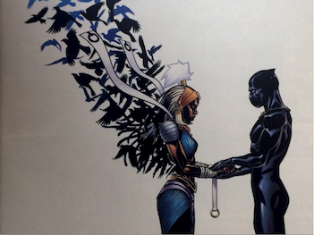 Detail of comic book cover from Black Panther #9