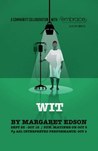 Theatre B production poster for Wit by Margaret Edson