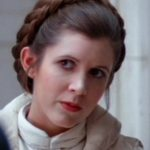 Carrie Fisher as Princess Leia in Empire Strikes Back